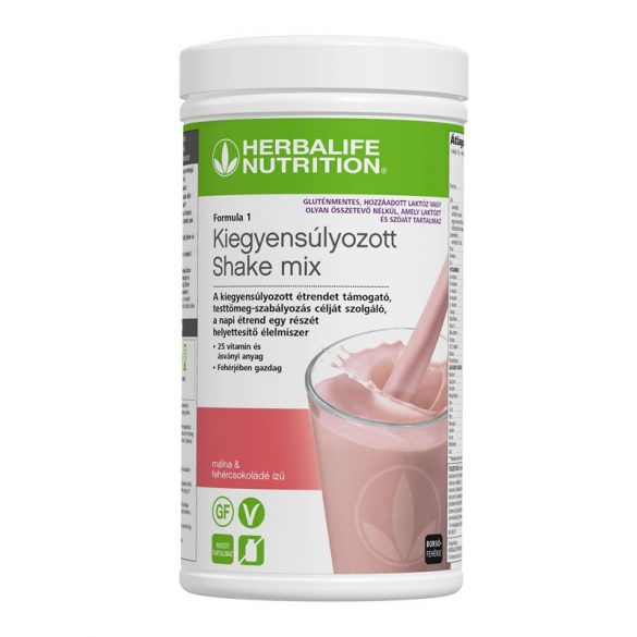 Herbalife Formula 1 Mentes Shake Málnás & fehércsokoládés – 500 g